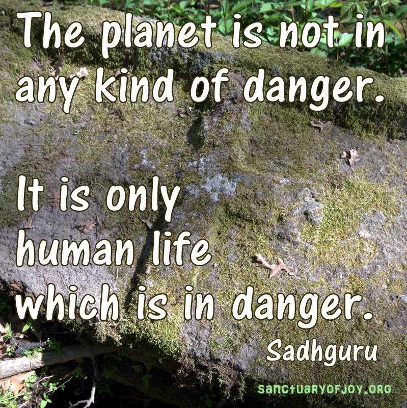 The planet is not in any kind of danger. It is only human life which is in danger.