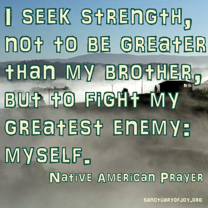 I seek strength