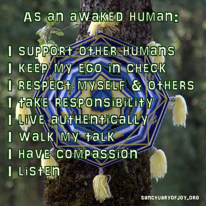 As an awakened human