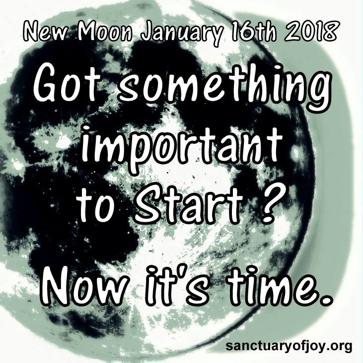 New Moon January 16th 2018