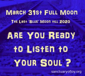 Full Blue Moon March 31st 2018
