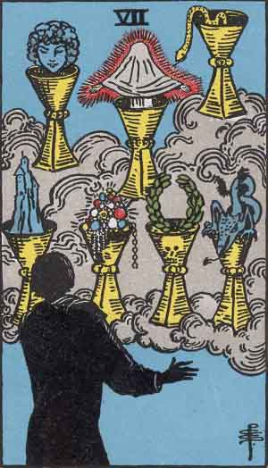 Seven of Cups / Water / Hearts