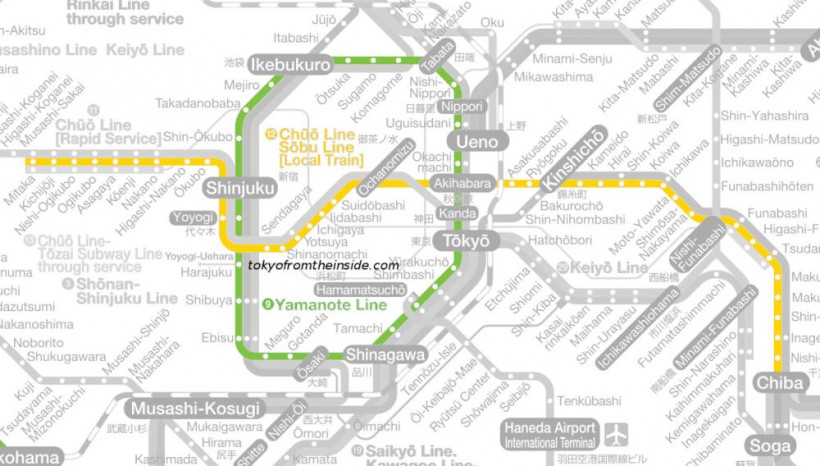 Japanese Subway Map.Demystifying The Railway Train And Subway Systems Of Tokyo Tokyo