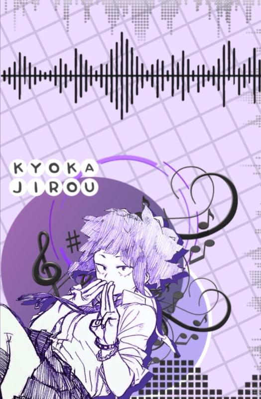 Caderno Sketchbook personalizado - Kyoka Jirou 1 (pequeno) - Folha branca