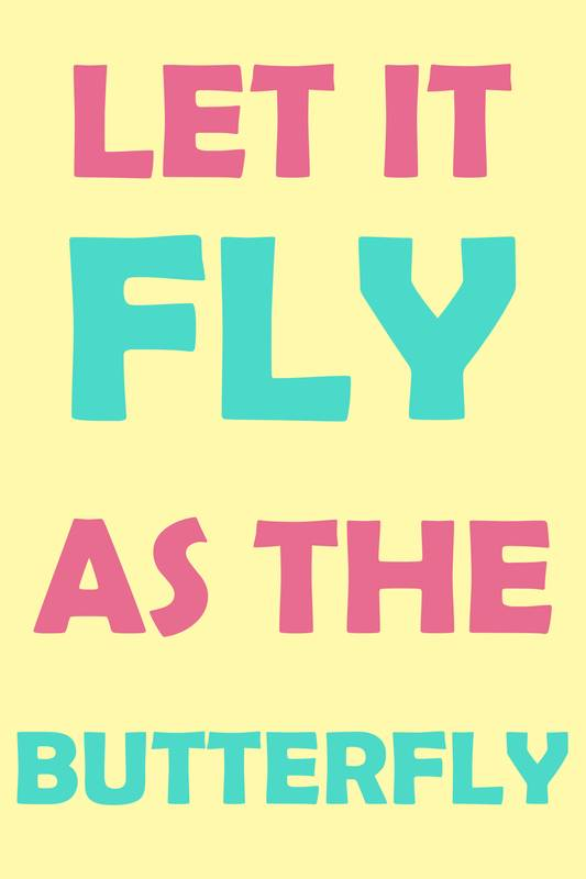 Caderno dreamygirlarts: Let It Fly As The Butterfly