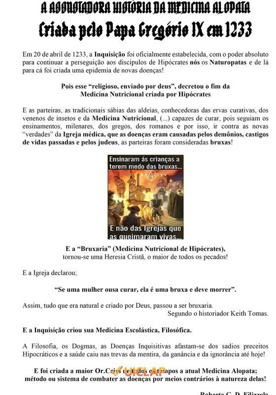 A ASSUSTADORA HISTÓRIA DA MEDICINA ALOPATA