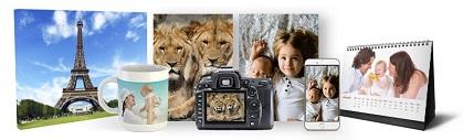 framkalla bilder till olika fotoprodukter