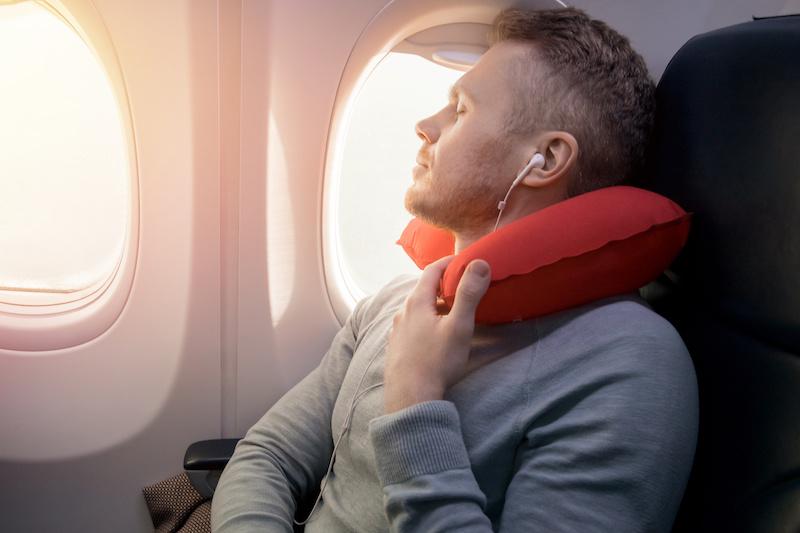 Beter slaapt tijdens het reizen