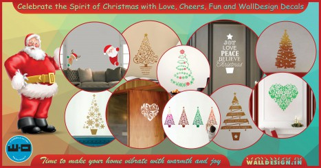 Christmas wall stickers for a cheerful ambiance
