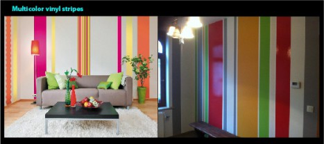 Multicolored stripes to warm up your interiors