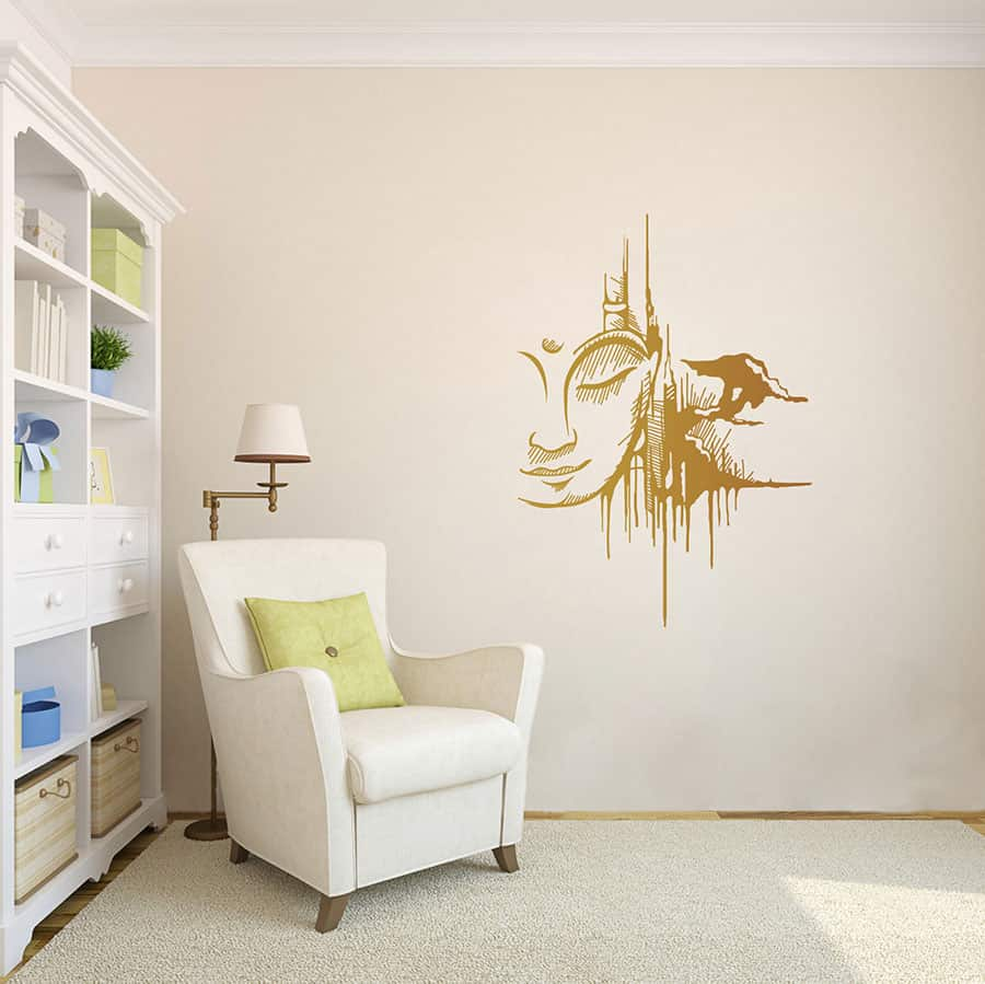 WDC01006 Urban Buddha Copper L room decal