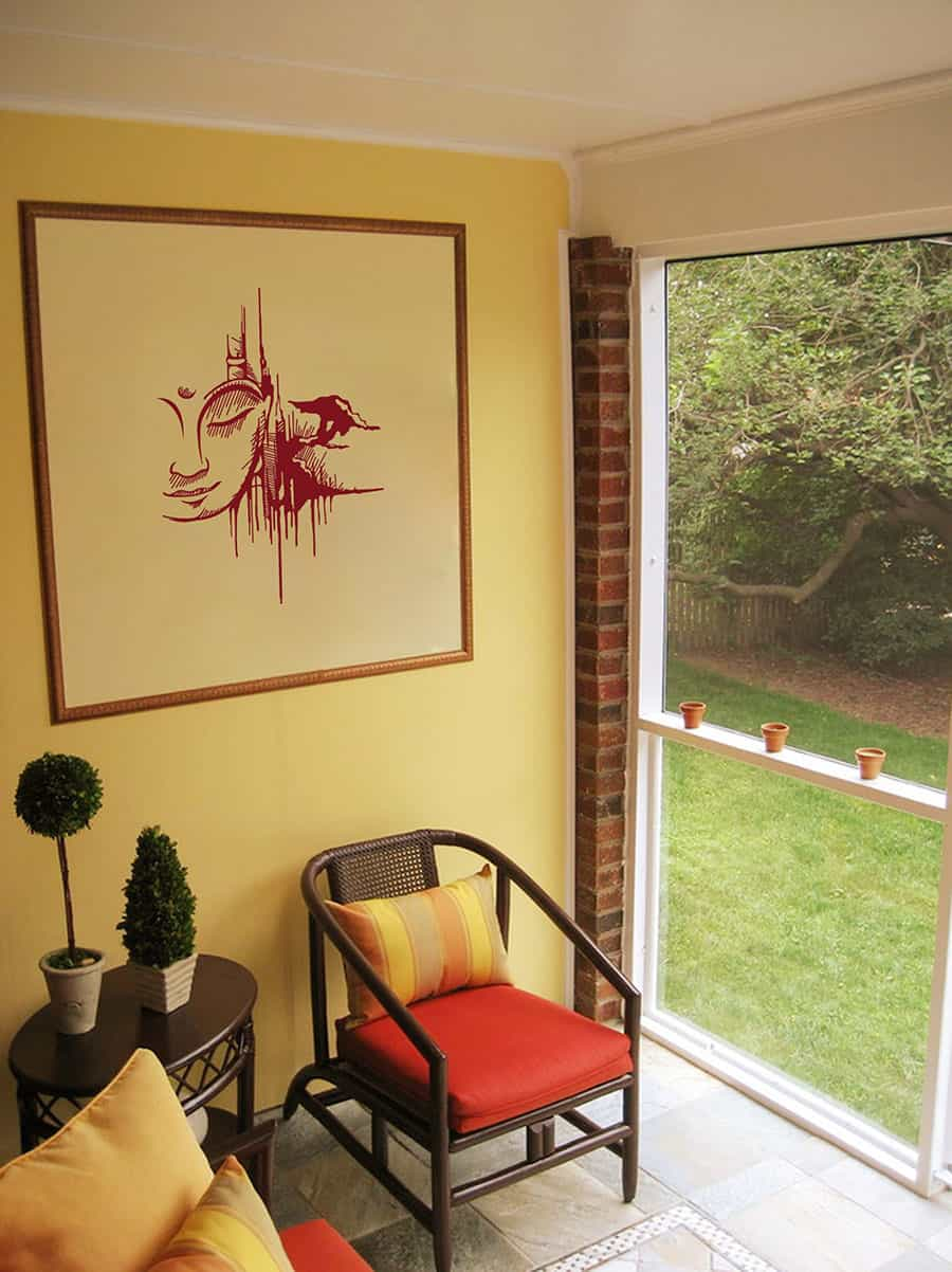 WDC01006 Urban Buddha MaroonCrayola S room decal