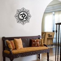 WDC01007 Artistic Om Black M room decal