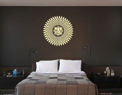 Radiant Ganesha Wall Sticker