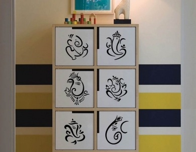 Mini Ganesha Set of 6 Wall Sticker