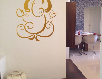 Shining Ganesha Wall Sticker
