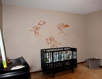Bala Hanuman Set of 3 Series Wall Sticker