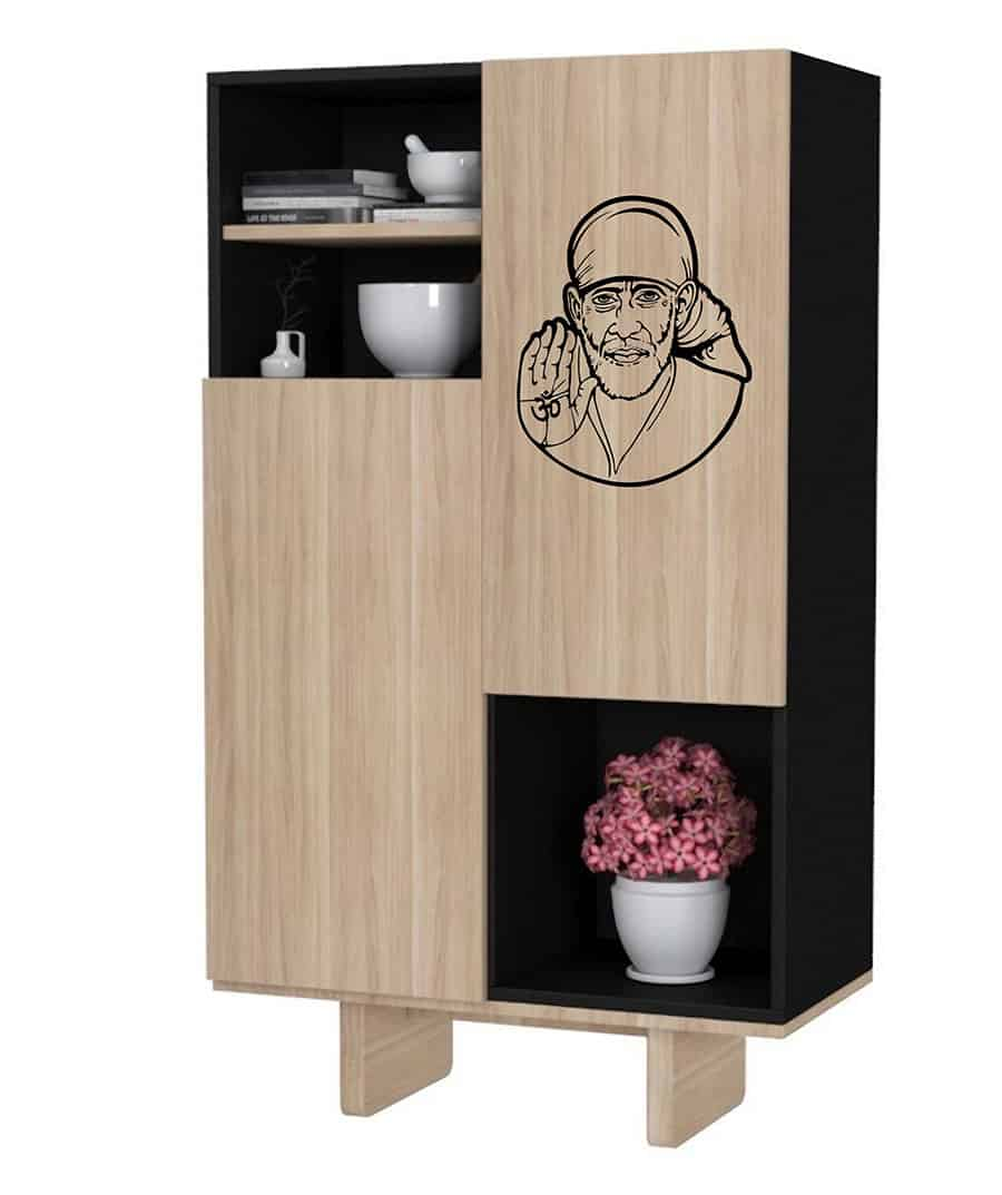 WDC01040 Sai Baba Black M 2 room sticker