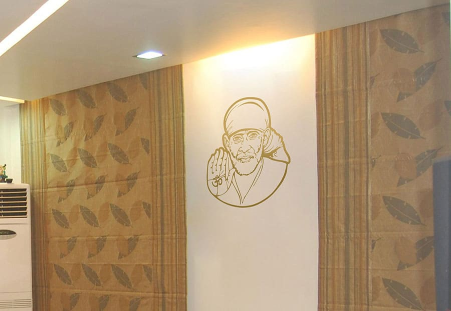 WDC01040 Sai Baba Gold M 2 room sticker