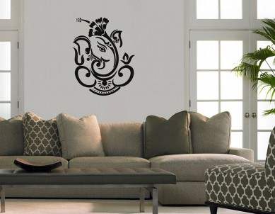 Dasavala Ganesha Wall Sticker
