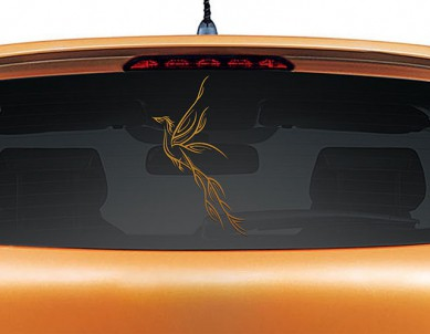 Paradise Bird Car Rear Glass Sticker