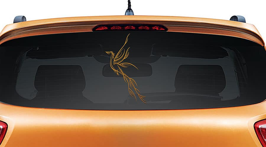Paradise Bird Copper Rear Car Sticker