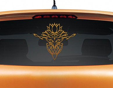 Lotus Calligraphy Car Graphics