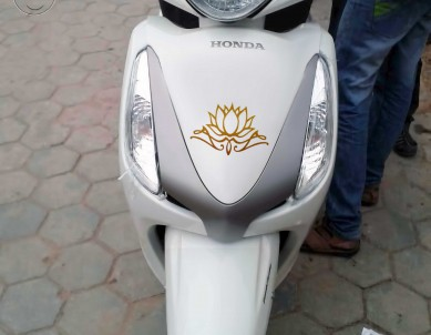 Lotus Calligraphy Motorbike Stickers