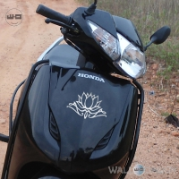 WallDesign Motorcycle Graphics Indian Lotus Silver Stickers Reflective Vinyl