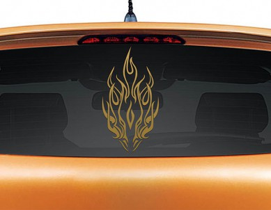 Dragon Breath Car Decal