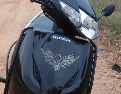 Fly like an Eagle Bike Windshield Stickers