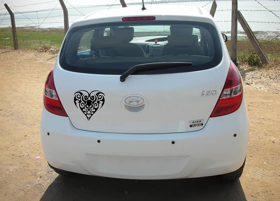 Black Heart Black Dicky Car Sticker
