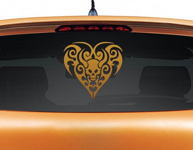 Black Heart Car Decal