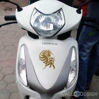 WallDesign Stickers Design Motorbikes Yakari Horse Gold Reflective Vinyl