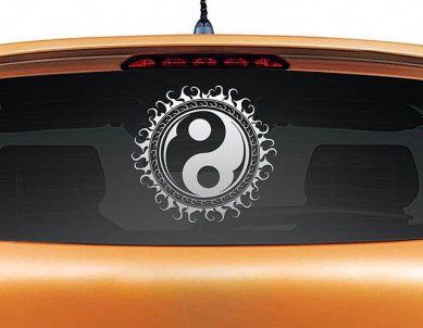Yin Yang Car Decal