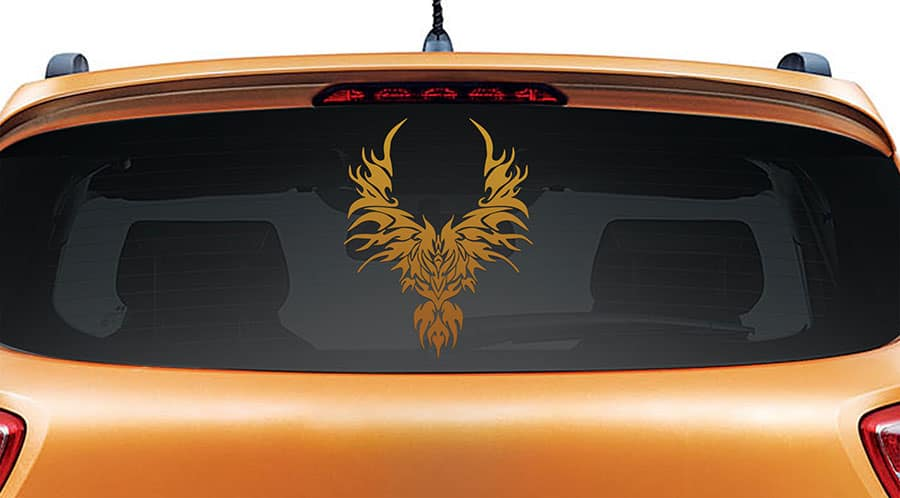 Rise from the Ashes Copper Rear Car Sticker