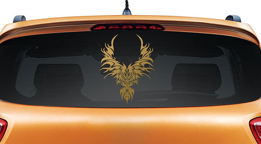 Rise from the Ashes Gold Rear Car Sticker
