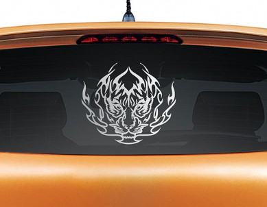 Eye of the Tiger Car Decal