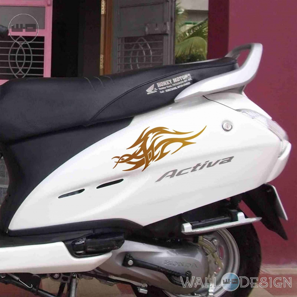 WallDesign Motorbike Stickers Wings Of The Eagle Copper Reflective Vinyl
