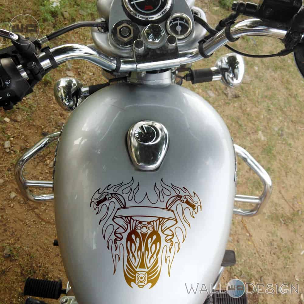 WallDesign Stickers For Motorcycles Bike Of Glory Copper  Reflective Vinyl