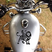 WallDesign Crazy Bike Stickers Lucky Leo Warrior Black Reflective Vinyl