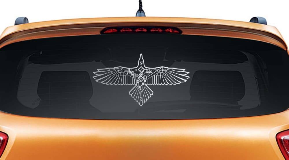 Cruise Control Silver Rear Car Sticker