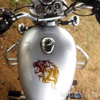 WallDesign Motorbike Graphics Lions Den Copper Stickers Reflective Vinyl