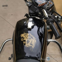 WallDesign Bike Stickers Custom Lions Den Gold Reflective Vinyl