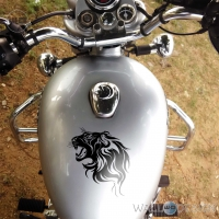 WallDesign Bike Stickers And Decals Lions Den Black Reflective Vinyl