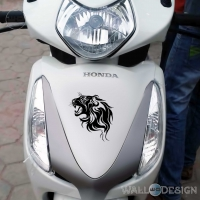 WallDesign Scooter Stickers Decals Lions Den Black Reflective Vinyl