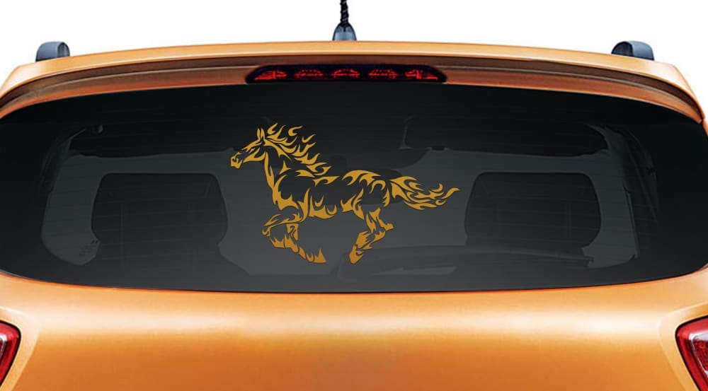Warrior Horse Copper Rear Car Sticker