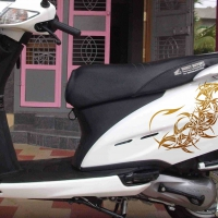 WallDesign Bike Body Stickers Dragon Tail Weapon Copper Reflective Vinyl