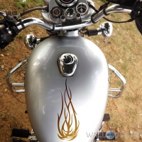 WallDesign Stickers On Bike Tribal Flame Tattoo Copper Reflective Vinyl