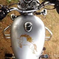 WallDesign Bike Decals Tribal Raging Unicorn Gold Stickers Reflective Vinyl
